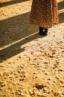 未舗装の道路を歩く人の写真・画像素材[1800084]