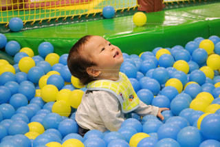 ボールプール大好きの写真・画像素材[1043571]