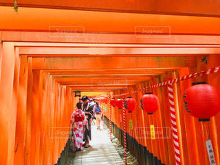 千本鳥居と夏の風物詩の写真・画像素材[1044046]