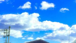 空,雲,青空,景色,ハート