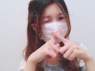 マスクをした女性の写真・画像素材[1061229]