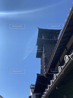 時の鐘と青空の写真・画像素材[4618129]