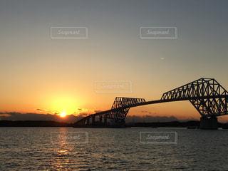 空,夕日,橋,東京