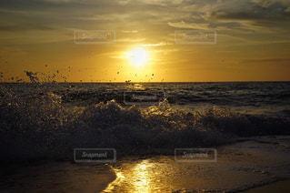 自然,風景,海,空,夕日,太陽,夕暮れ,水面,海岸,夕陽,宮古ブルー