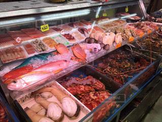 食品の多くに満ちてディスプレイ ケースの写真・画像素材[1043603]