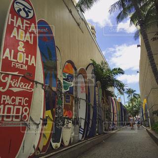 ハワイのサーフボードの写真・画像素材[1046833]