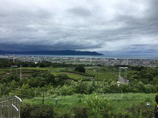 海,雨上がり,梅雨,エメラルドグリーン,サービスエリア,駿河湾