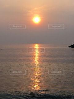 海,夕日,旅行,新潟,日本海