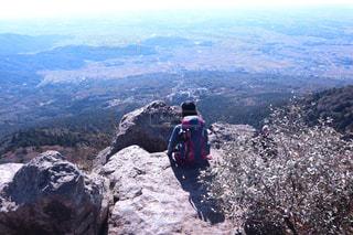 自然,後ろ姿,登山,背中,後姿,山頂,感動,筑波山,山ガール,想いを馳せる