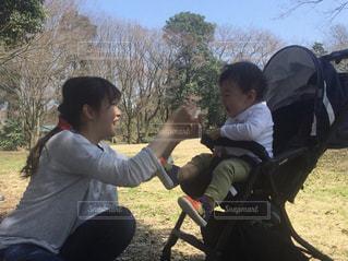 公園,緑,子供,ピクニック,母,男の子,ママ