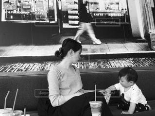 カフェ,COFFEE,子供,おやつ,母,男の子,ママ
