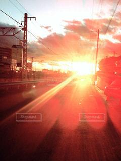 夕日,太陽,光,サンセット
