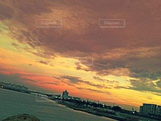 海,夕日,太陽,夕焼け,サンセット