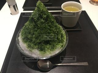 食べ物,夏,お茶,和,涼しげ,かき氷,煎茶