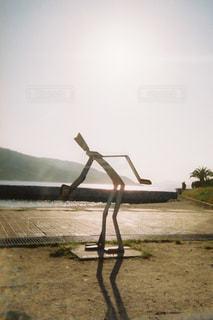空,屋外,太陽,砂浜,夕焼け,夕暮れ,光,オブジェ,フィルム
