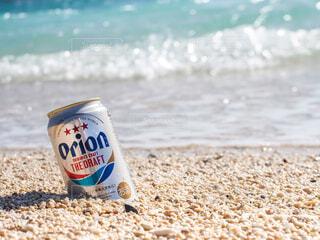 海と砂浜もオリオンビールの写真・画像素材[3904999]