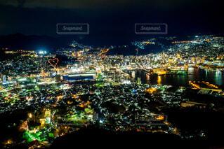長崎・伊佐山展望台の夜景の写真・画像素材[4091959]