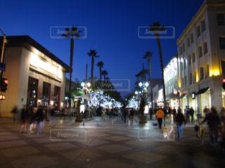 夜景,アメリカ,日没,観光,イルミネーション,電灯,サンタモニカ,ショッピング,カリフォルニア,電飾,ショッピングモール,プロムナード,3番街