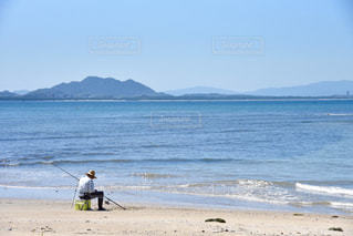 第1釣り人発見の写真・画像素材[1425967]