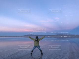 ウユニ塩湖最高♡の写真・画像素材[1052863]