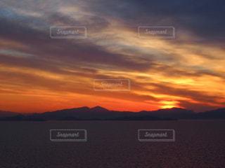 海,空,夕日,雲,夕焼け,夕方,地中海