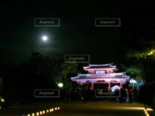 沖縄 首里城✨満月の夜🌕の写真・画像素材[1053476]