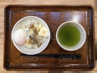 朝食,日本,和,緑茶