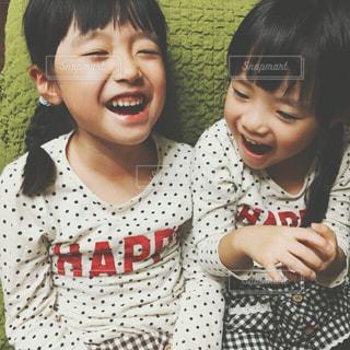 happyな姉妹の写真・画像素材[1079279]