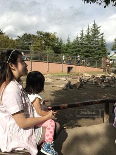 動物園,母,娘,お母さん,いい天気