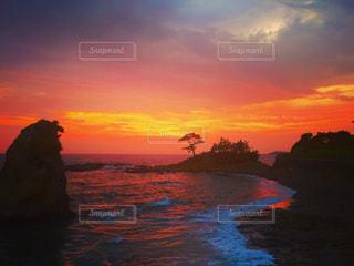海,空,夕日,ピンク,ビーチ,カラフル,夕焼け,海岸,サンセット,ピンク色,桃色,三浦半島,黄昏時,秋谷,立石公園