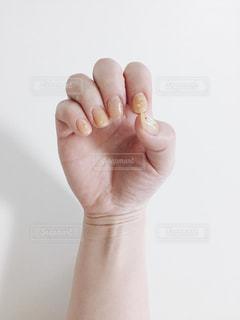 黄色い春ネイルの写真・画像素材[1167521]