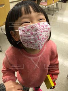 初めてのマスク♡の写真・画像素材[1062418]