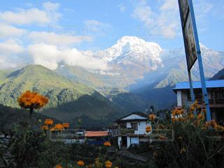 山のビューの写真・画像素材[1369014]