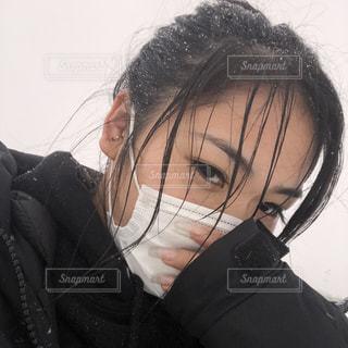 寒い日はマスク♪の写真・画像素材[1063279]