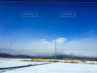 田舎の雪景色の写真・画像素材[1757880]