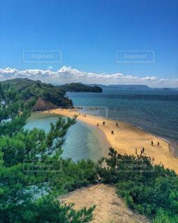青空と砂浜の道の写真・画像素材[1213905]
