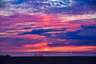 自然,夕日,雲,景色,旅行,鳥取砂丘