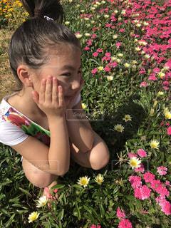 花,屋外,子供,人物,草木,お花❤️春
