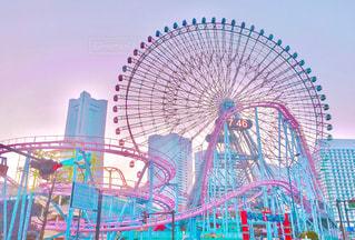 青空と遊園地の写真・画像素材[1103653]