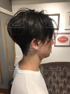 メンズヘアスタイルの写真・画像素材[1065947]