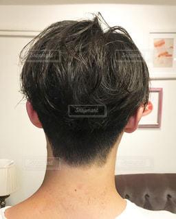 メンズヘアスタイルの写真・画像素材[1065949]