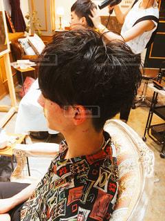 メンズヘアスタイルの写真・画像素材[1065960]