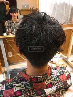 メンズヘアスタイルの写真・画像素材[1065961]