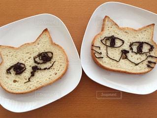 猫型食パンの写真・画像素材[1147406]