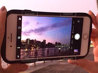 隅田川の夕暮れをパチリの写真・画像素材[1454509]