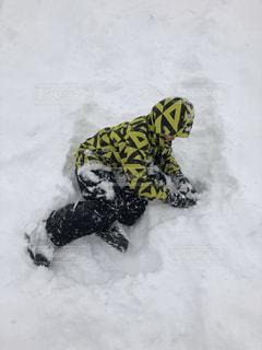 男性,子ども,1人,アウトドア,スポーツ,雪,屋外,人物,ゲレンデ,レジャー