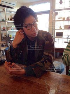 カフェにての写真・画像素材[1068330]