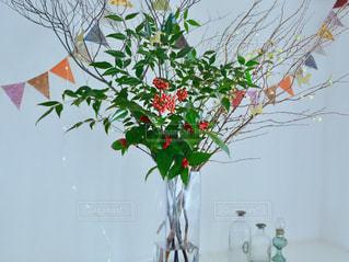 花,お正月,フラワーアレンジ,南天,千両