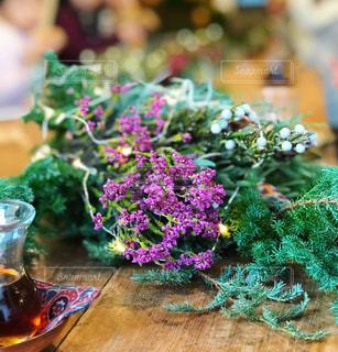 インテリア,花,クリスマス,リース,手作り,フラワーアレンジ,スワッグ