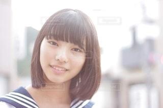 女子中学生のクローズアップの写真・画像素材[2506716]